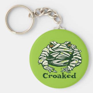 Frog Mummy Basic Round Button Keychain