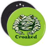 Frog Mummy Pinback Buttons