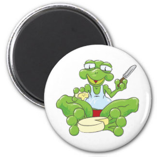 Frog n' Cheese 2 Inch Round Magnet