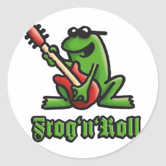 frog n roll A Classic Round Sticker
