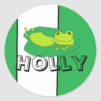 frog name stickers
