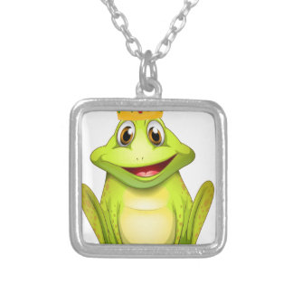 Frog Square Pendant Necklace