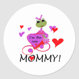 Frog New Mommy Classic Round Sticker