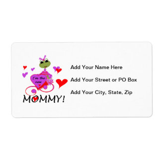 Frog New Mommy Gifts Shipping Label