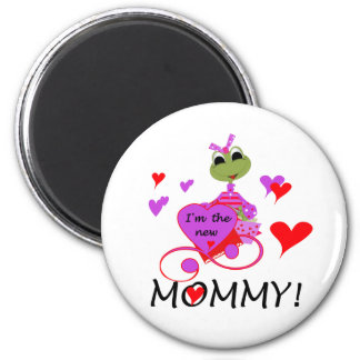 Frog New Mommy T-shirts and Gifts 2 Inch Round Magnet