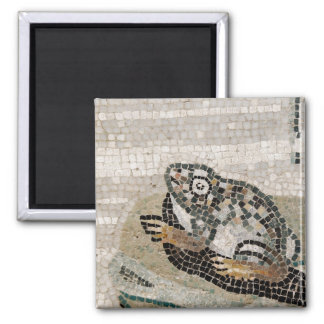 Frog, Nile mosaic, from the House of the Faun 2 Inch Square Magnet