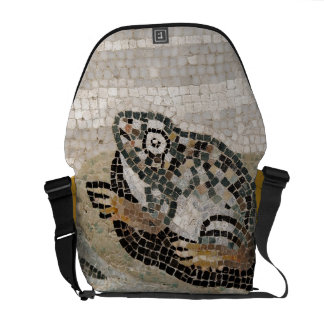 Frog, Nile mosaic, from the House of the Faun Messenger Bag