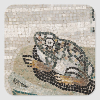 Frog, Nile mosaic, from the House of the Faun Square Stickers