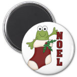 Frog Noel Holiday Tshirts and Gifts Fridge Magnet
