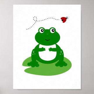 Frog Nursery Wall Art Print
