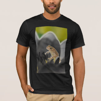 Frog on a Flower Adult White Tee Black
