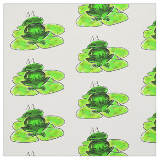 Frog on a Lilly cartoon/illustrations pad Fabric
