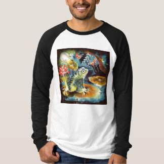 Frog on a Lily Pad in the Moonlight Art Painting T-Shirt