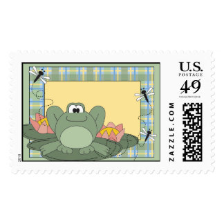 Frog on a Lily Pad Stamp