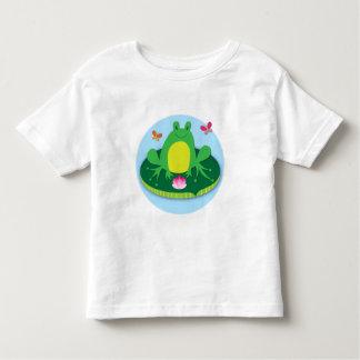 Frog on a lily pad tee shirt