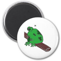 Frog on a log magnet