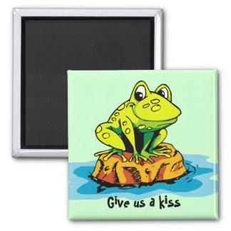 frog on a rock magnet