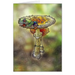 Frog on a Stool Greeting Card