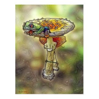 Frog on a Stool Postcard