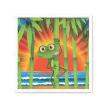 Frog On Bamboo Paper Napkins