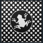 "Frog on Black and White Polka Dots Napkin<br><div class=""desc"">You will love this cute frog,  toad,  with  Black and White Polka Dots pattern design!  We invite you to our store,  PetWorld,  to view this cool pattern on many more great customizable pet products,  including girly birthday cards,  modern kids invitations,  and trendy postcard kid&#39;s party invitations!</div>"