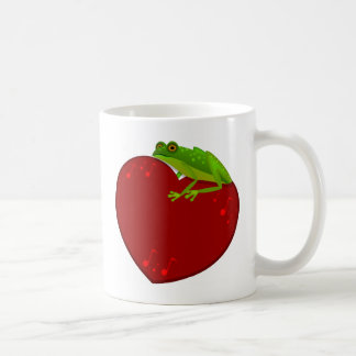 Frog on Heart with music notes Mug