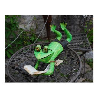 Frog on Holidays Postcard