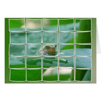 Frog on Leaf Card