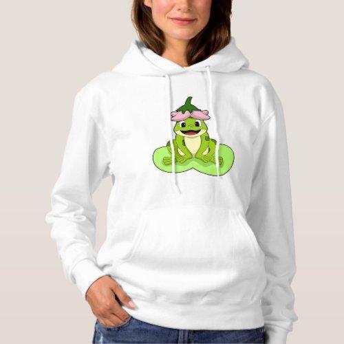 Frog on Leaf Hoodie