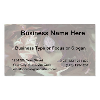 Frog on leaf purplish abstract blur Double-Sided standard business cards (Pack of 100)