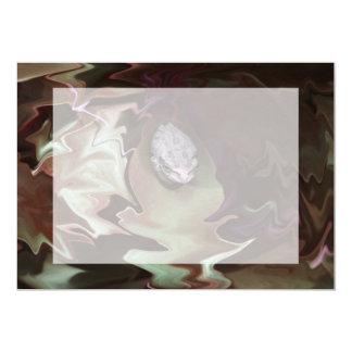Frog on leaf purplish abstract blur card