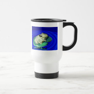 Frog On Lily Pad 15 Oz Stainless Steel Travel Mug