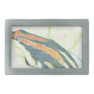 Frog on Lily Pad Rectangular Belt Buckle