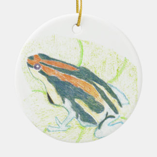 Frog on Lily Pad Ceramic Ornament