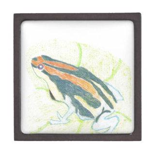 Frog on Lily Pad Keepsake Box