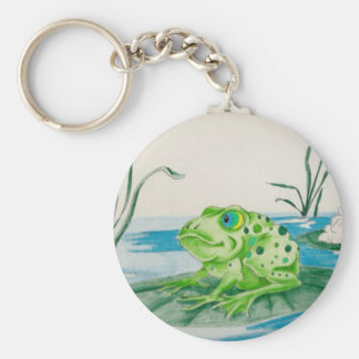 Frog on Lily pad Keychain