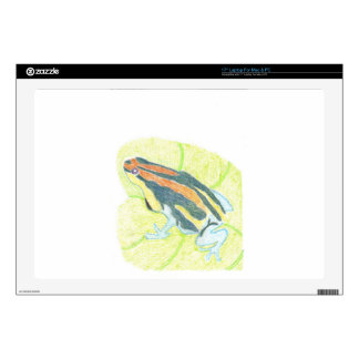 Frog on Lily Pad Laptop Skin