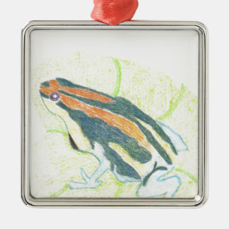 Frog on Lily Pad Metal Ornament