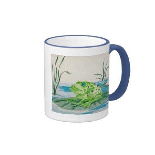 Frog on Lily pad Mugs