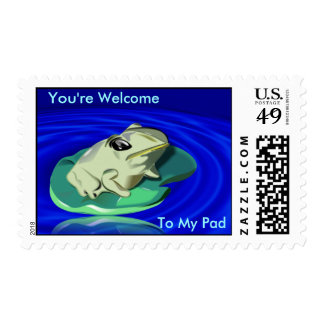 Frog On Lily Pad  Postage