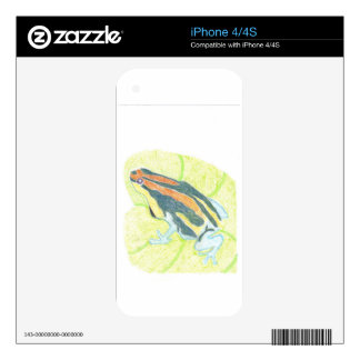 Frog on Lily Pad Skin For iPhone 4S