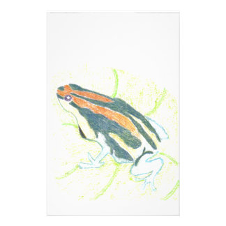 Frog on Lily Pad Stationery