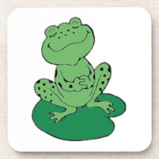 Frog on Lilypad Beverage Coaster