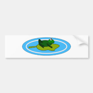 Frog On Lilypad Bumper Stickers