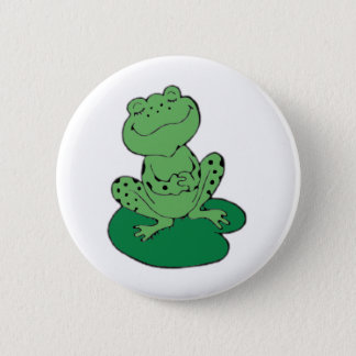 Frog on Lilypad Button