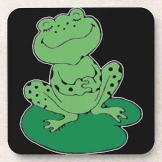 Frog on Lilypad Drink Coaster