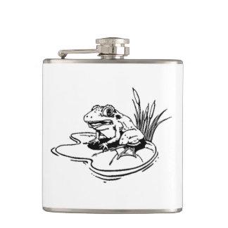 Frog On Lilypad Flask