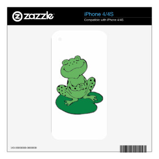 Frog on Lilypad iPhone 4S Skins