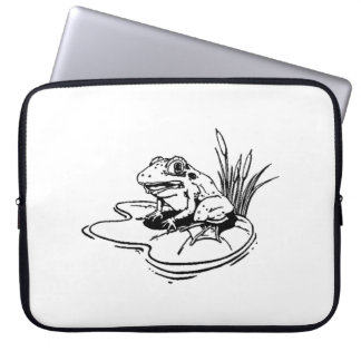 Frog On Lilypad Laptop Computer Sleeves