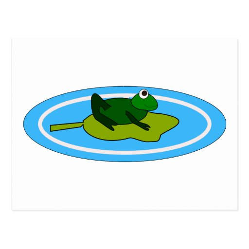 Frog On Lilypad Post Cards